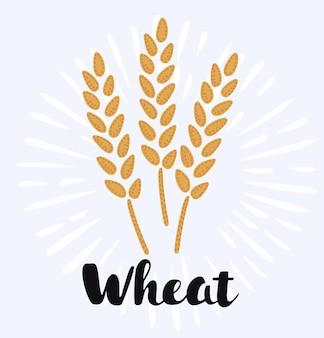 漫画の小麦の穂のイラスト