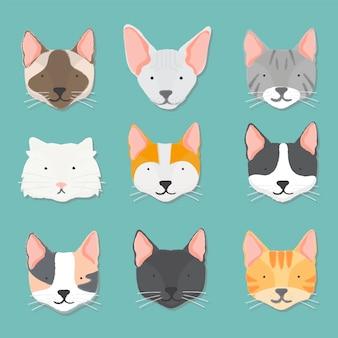 猫コレクションのイラスト