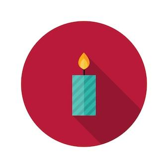 크리스마스 박탈된 촛불 플랫 아이콘의 그림