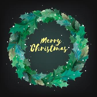 Illustration of Christmas wreath icon