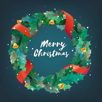 크리스마스 화 환 아이콘 그림
