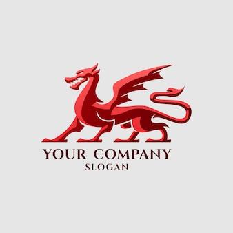 スポーツ、鍛冶屋、本の会社などに最適な古典的なヨーロッパのドラゴンのイラスト