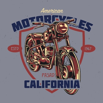古典的なオートバイのイラスト