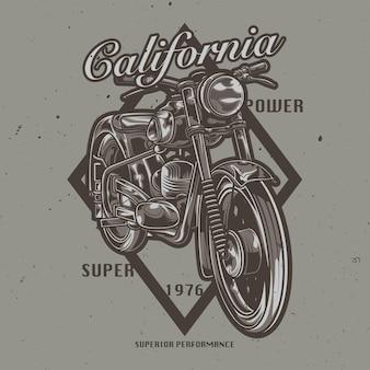 Иллюстрация классического мотоцикла