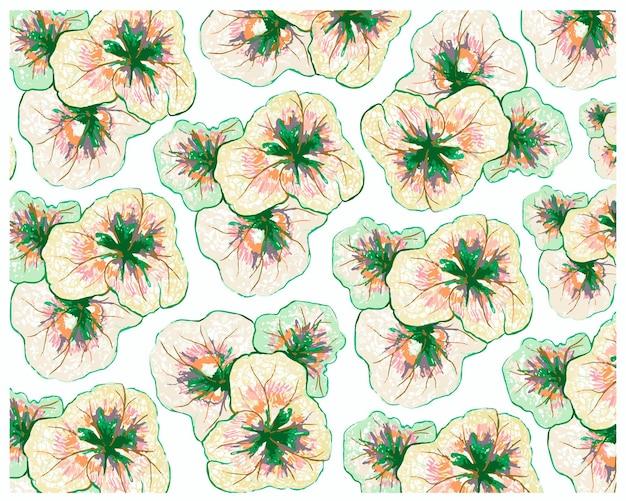 Coleus 또는 painted nettle plants 패턴의 그림