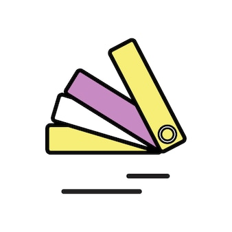 Illustration of color swatch