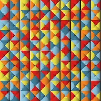 カラフルな幾何学的な抽象的な背景のイラスト。