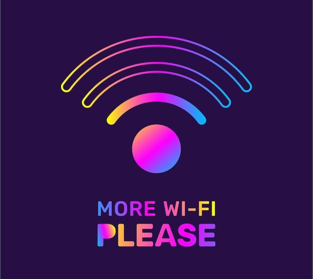 Иллюстрация красочного символа wi-fi на фоне темного цвета