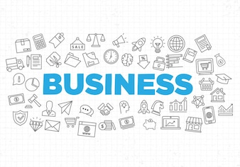 Illustration of creative business strategy background