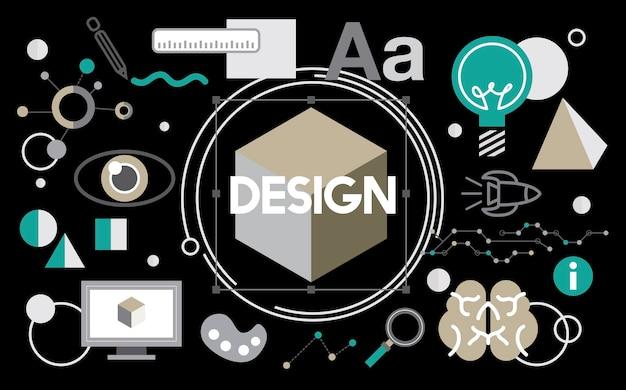 創造的なグラフィックデザインのイラスト