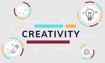 Illustration of creative graphic design