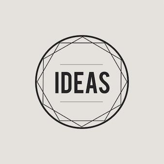 Иллюстрация значка концепции креативных идей