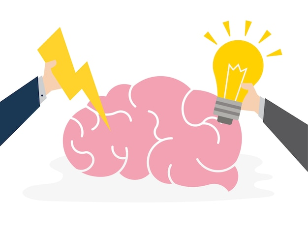 창의적인 아이디어 개념의 삽화