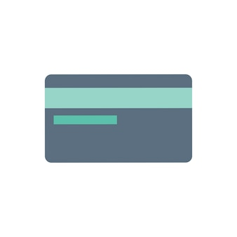 Illustration of credit card icon