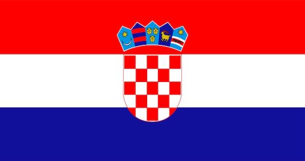 クロアチアの国旗のイラスト