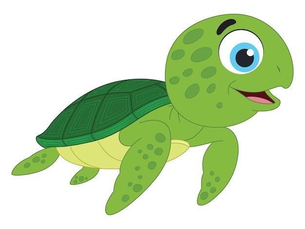귀여운 만화 바다 거북의 그림