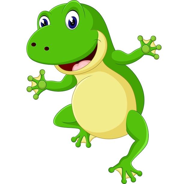 Иллюстрация милой мультфильма лягушки