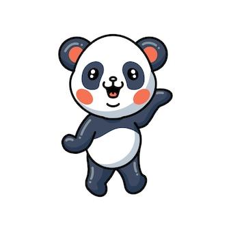 Иллюстрация милой маленькой панды мультфильм позирует