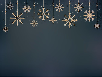 Illustration of cute snowflake icons