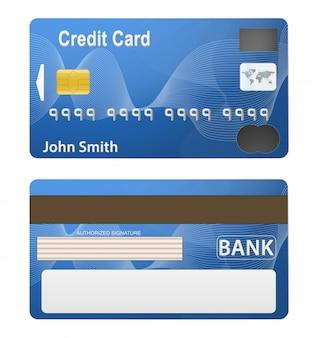 Иллюстрация подробной красивой кредитной карты.