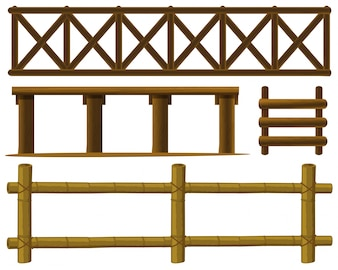 Illustration of different design of fences