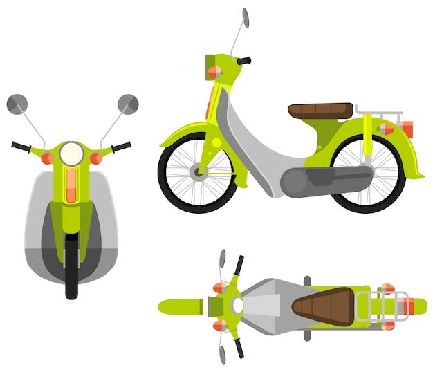 Иллюстрация разного вида мотоцикла