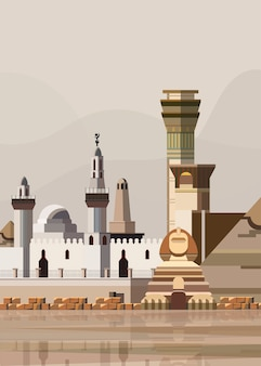 エジプトのランドマークのイラスト