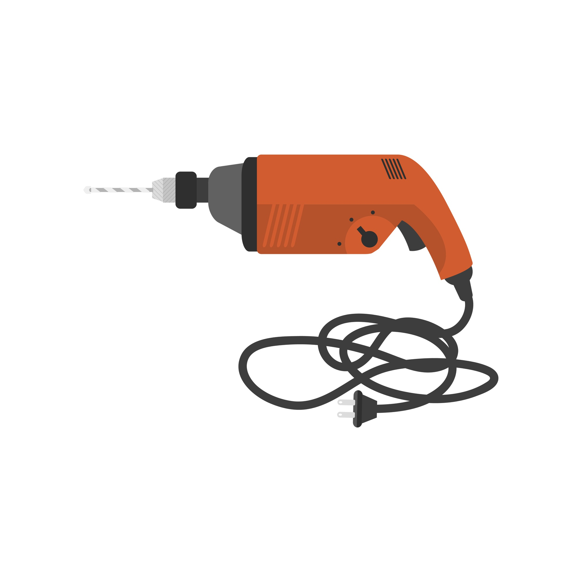 Illustration of electric drill