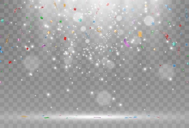 落下する紙吹雪のイラスト