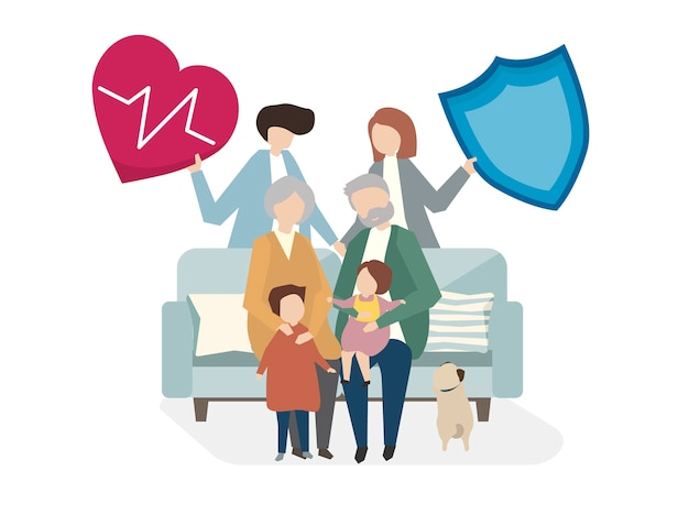 가족 생명 보험의 삽화