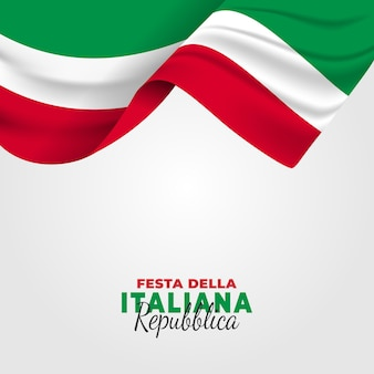 Иллюстрация festa della repubblica italiana. день итальянской республики.