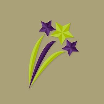 Иллюстрация плоского значка праздничных звезд