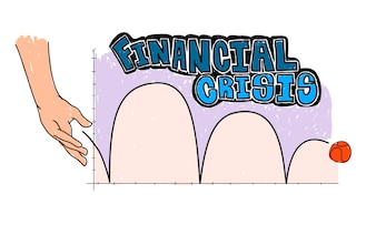 Illustration of financial crisis