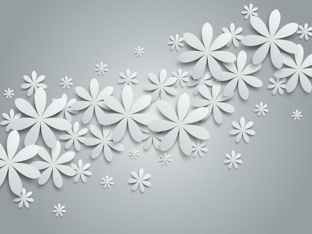 花の紙の背景のイラスト。