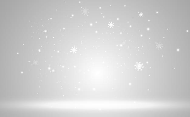 飛雪のイラスト降雪の自然現象