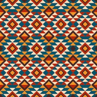 Иллюстрация народного бесшовного орнамента. этнический орнамент