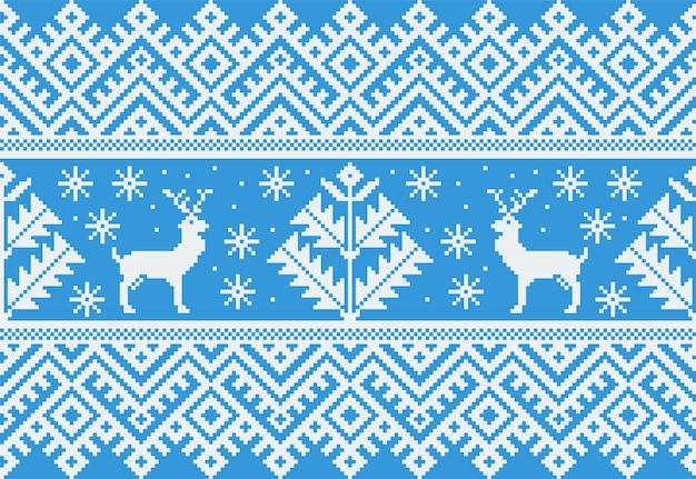 民俗のシームレスパターン飾りのイラスト