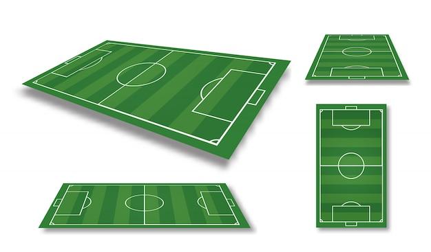 サッカー場のイラスト。サッカー