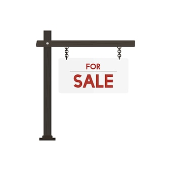 Illustration of for sale sign vector