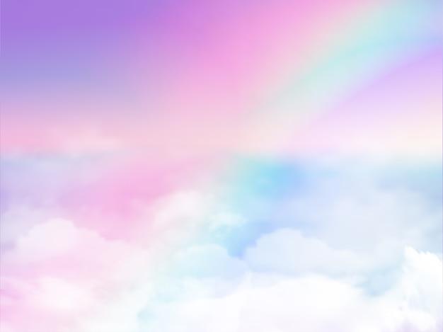銀河のファンタジーの背景のイラスト