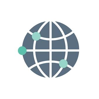 Illustration of global icon
