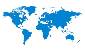World map blue template vector free download illustration of global icon gumiabroncs Choice Image