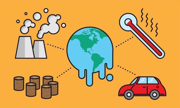 지구 온난화 개념의 삽화