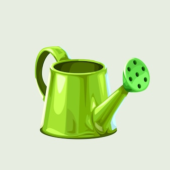 Иллюстрация зеленой металлической блестящей воды отражения может изолироваться на белом
