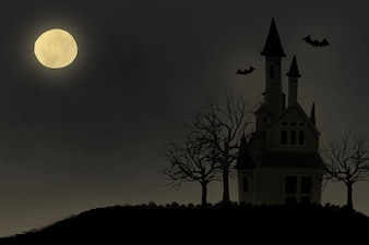 Illustration of Halloween themed background