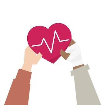 Иллюстрация концепции поддержки здравоохранения