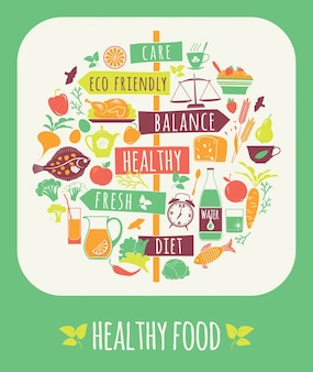Illustration of Healthy Food.