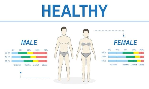 Иллюстрация концепции здорового образа жизни
