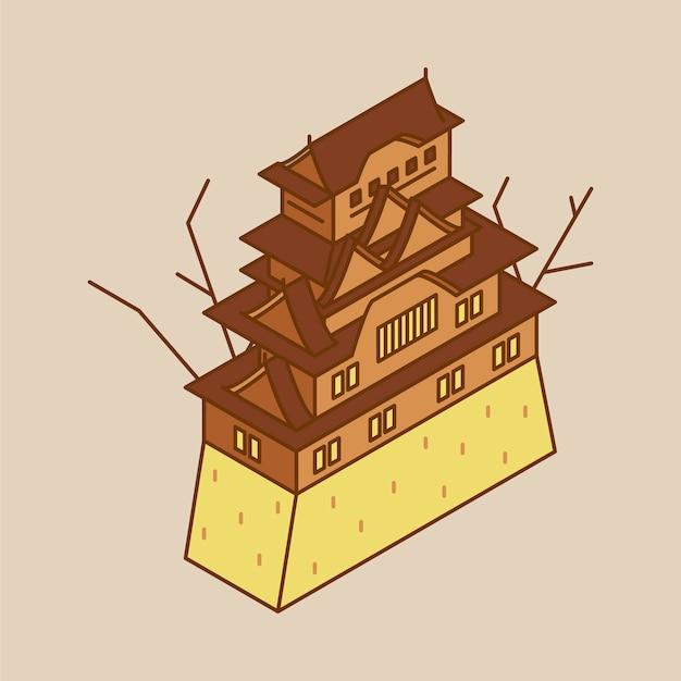 日本の姫路城のイラスト