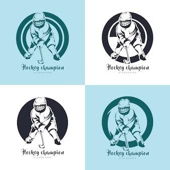 Иллюстрация хоккейного дизайна, хоккейный силуэт